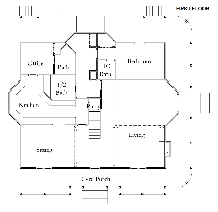 Floor Plan for Room 1 Morning Glory
